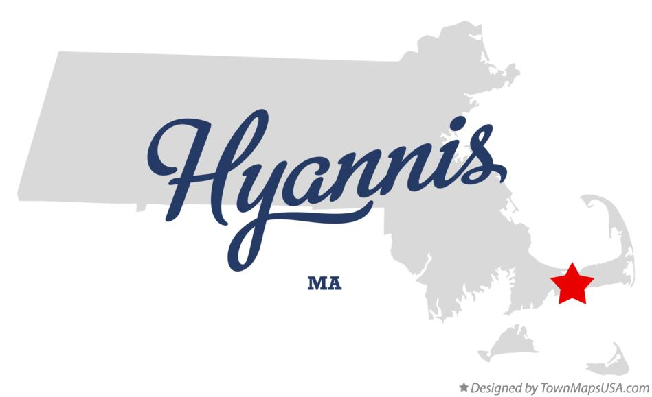 Map of Hyannis Massachusetts MA