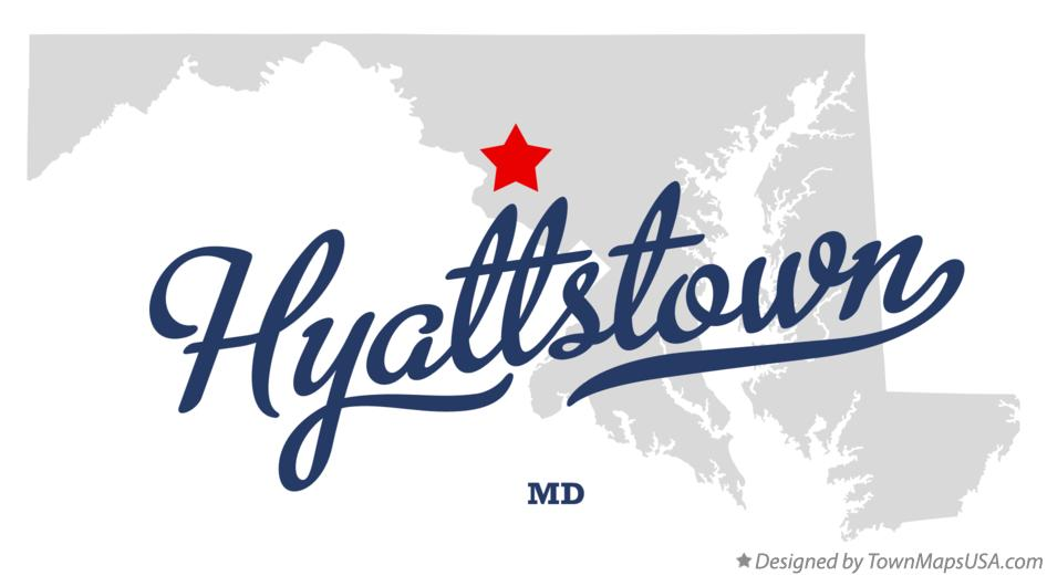 Map of Hyattstown Maryland MD