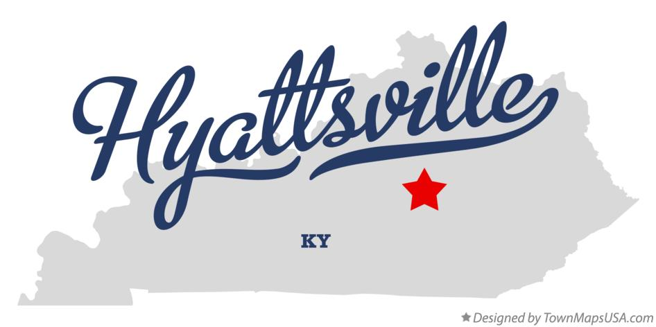Map of Hyattsville Kentucky KY