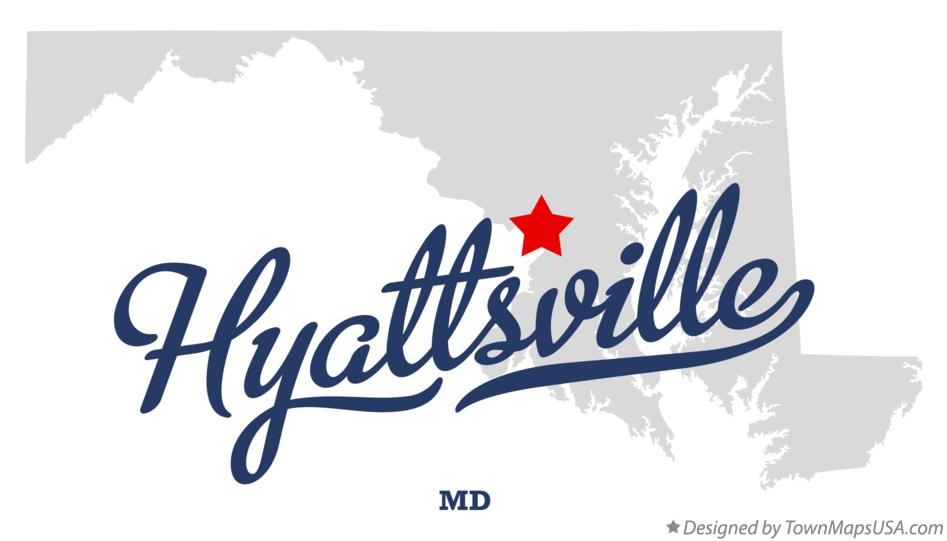 Map of Hyattsville Maryland MD
