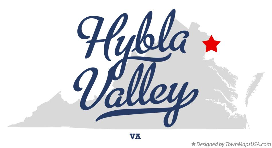 Map of Hybla Valley Virginia VA