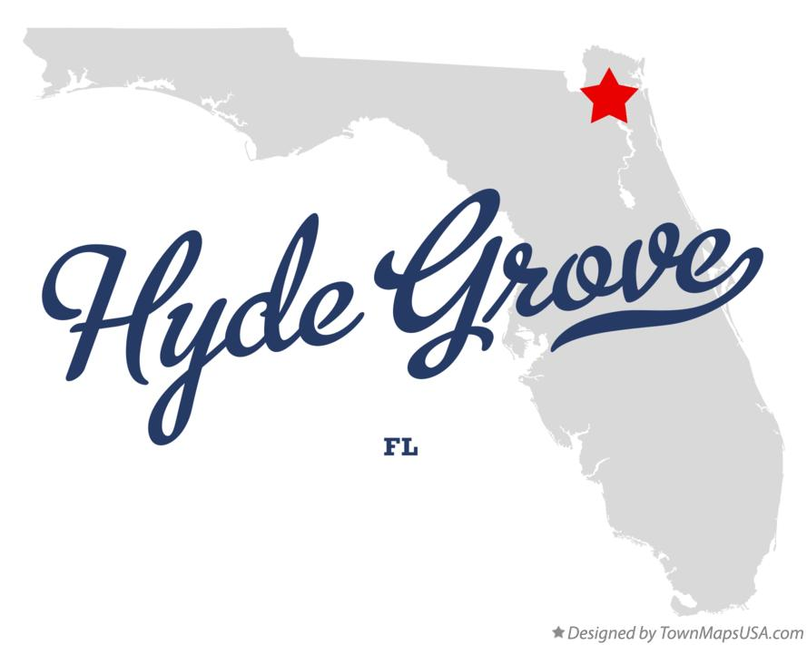 Map of Hyde Grove Florida FL