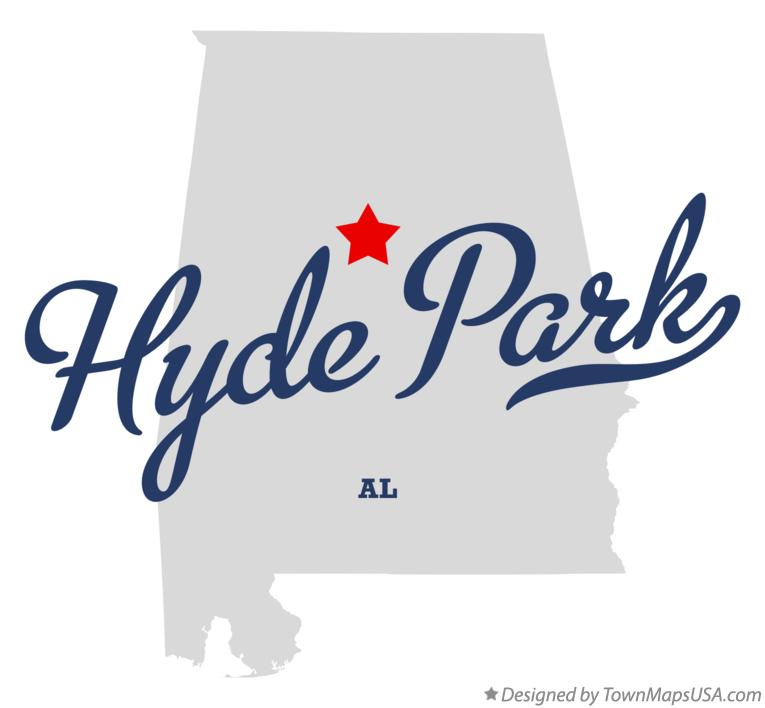 Map of Hyde Park Alabama AL
