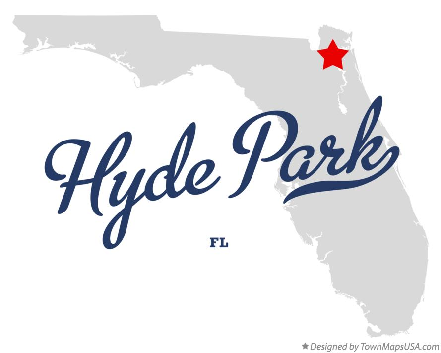 Map of Hyde Park Florida FL