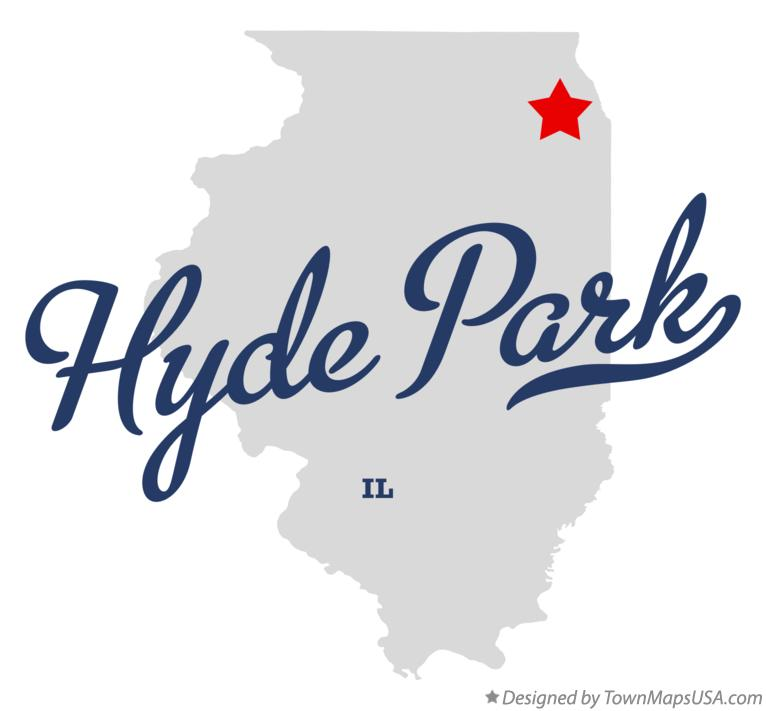 Map of Hyde Park Illinois IL