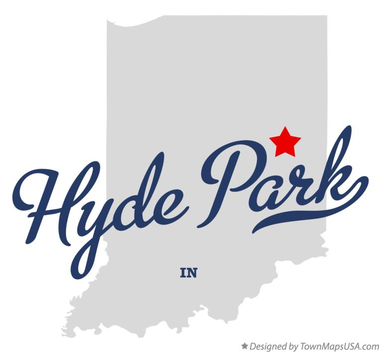 Map of Hyde Park Indiana IN