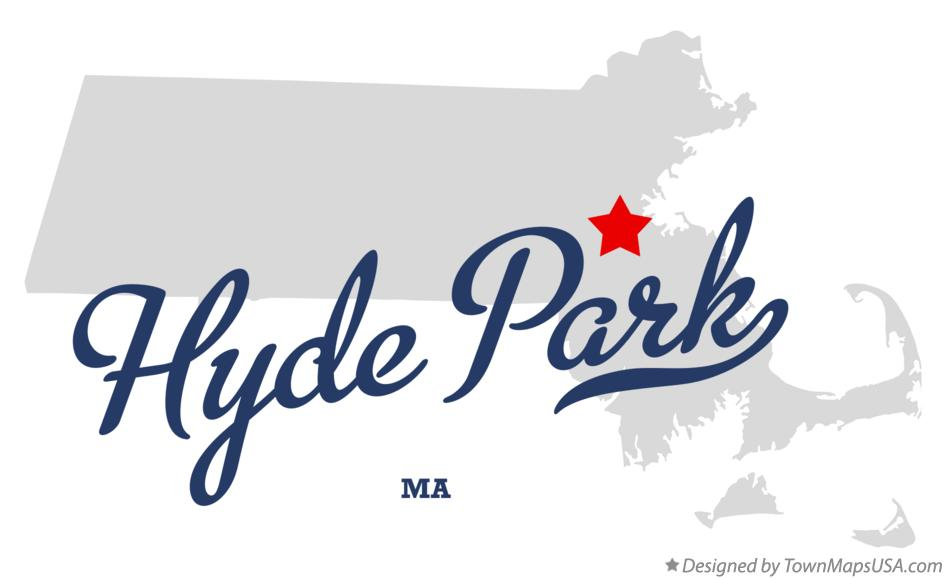 Map of Hyde Park Massachusetts MA