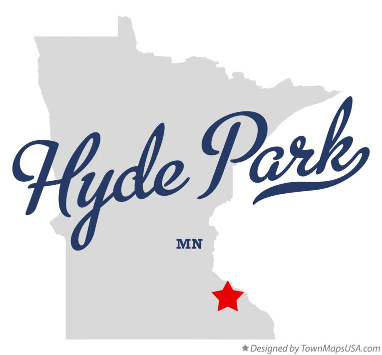 Map of Hyde Park Minnesota MN