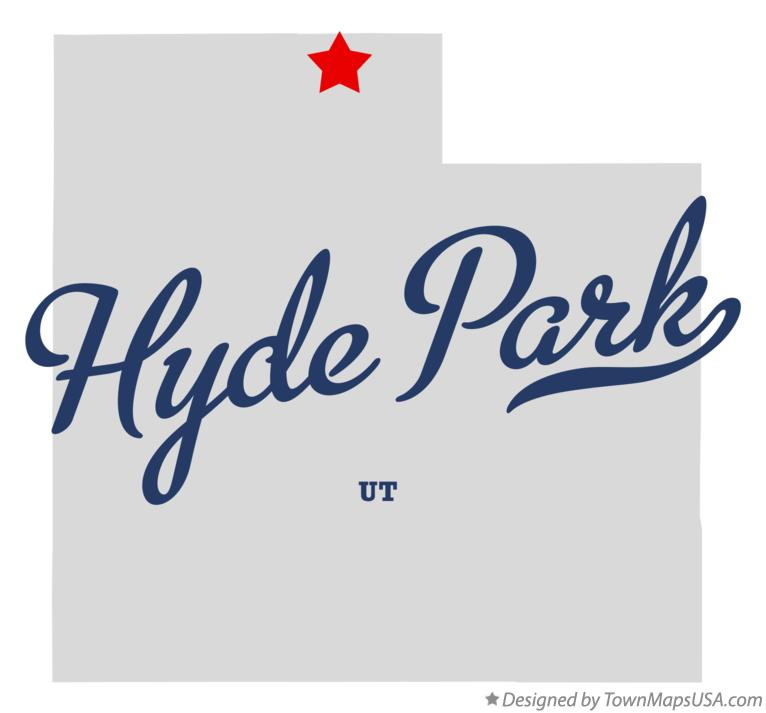 Map of Hyde Park Utah UT