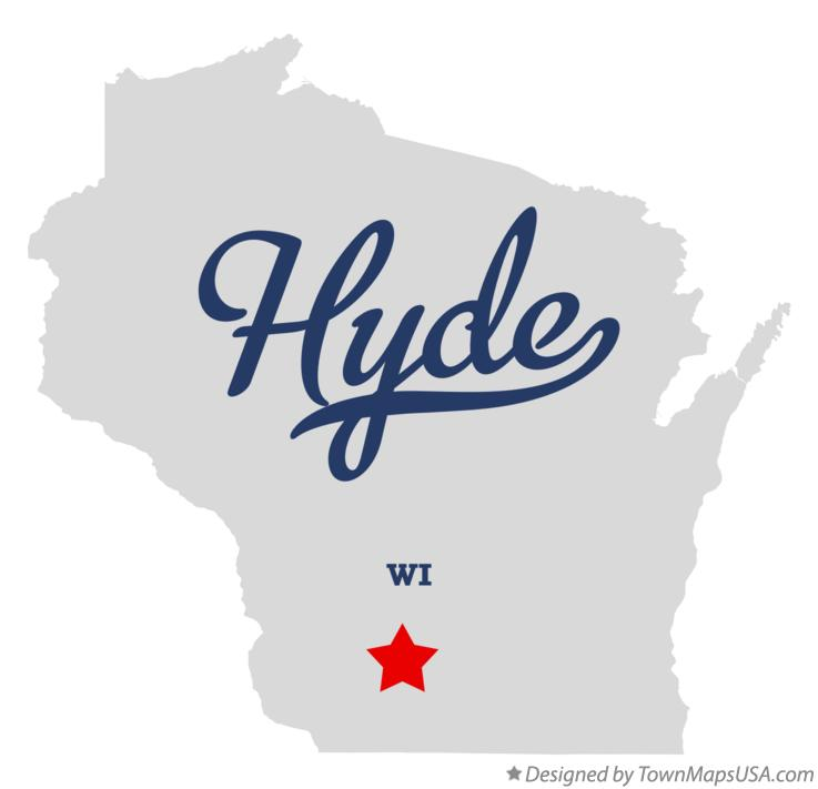 Map of Hyde Wisconsin WI