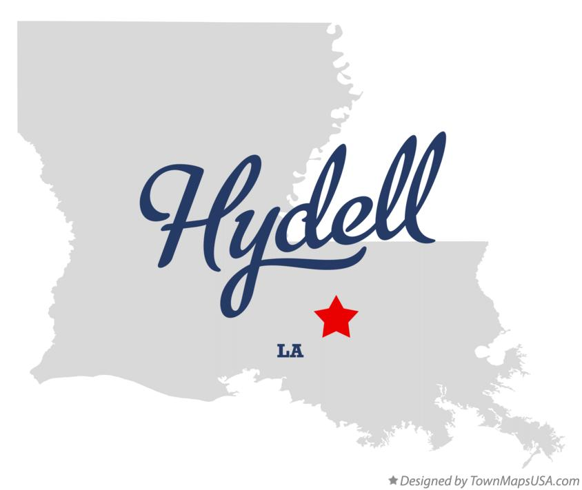 Map of Hydell Louisiana LA