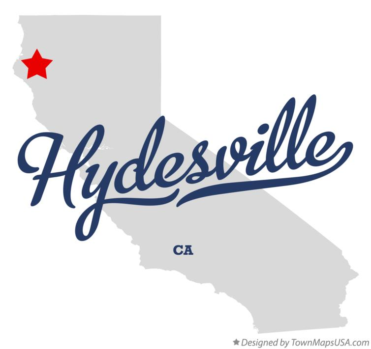Map of Hydesville California CA