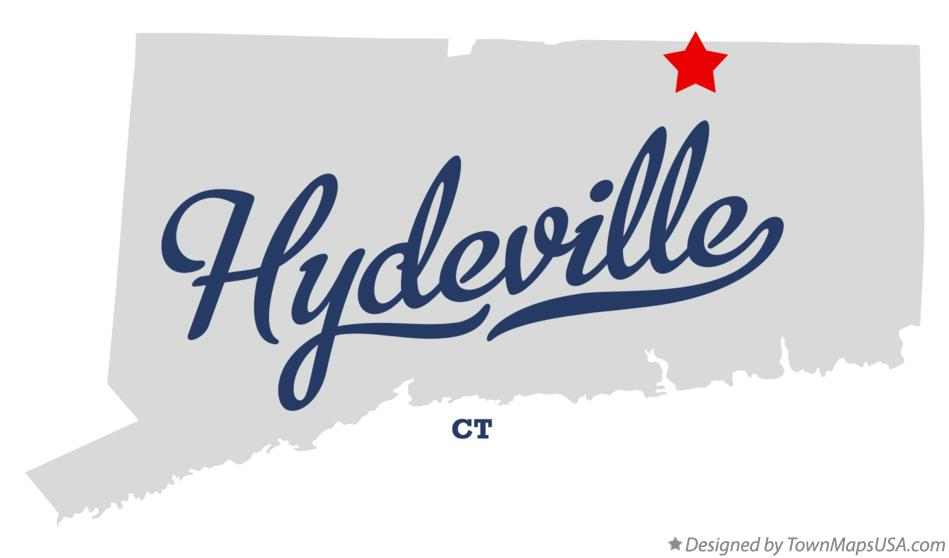 Map of Hydeville Connecticut CT