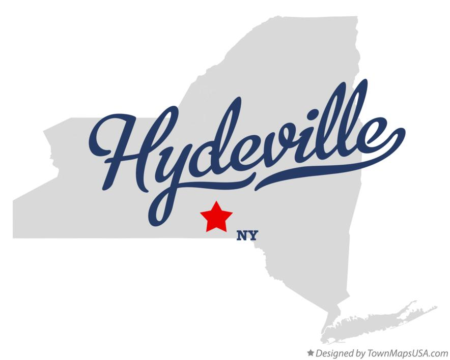 Map of Hydeville New York NY