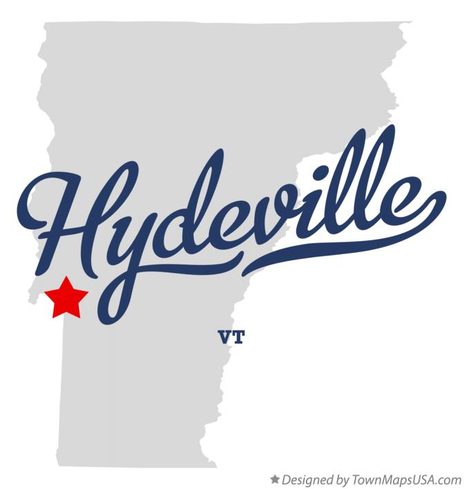 Map of Hydeville Vermont VT