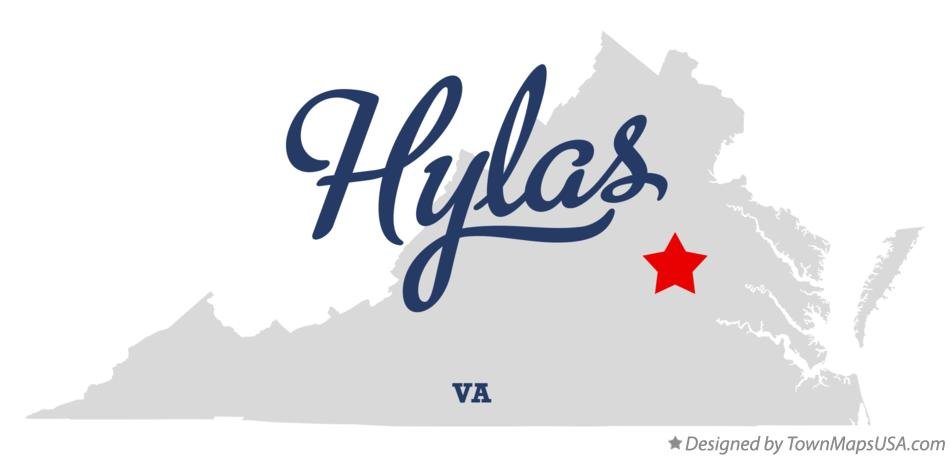 Map of Hylas Virginia VA