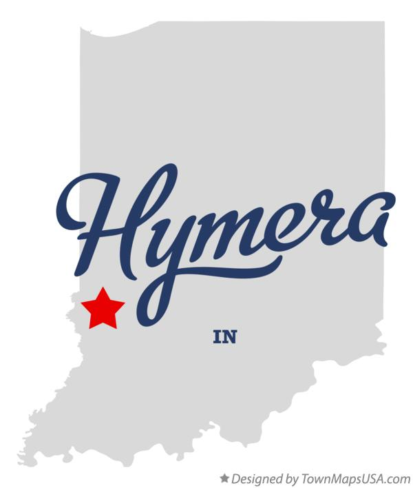 Map of Hymera Indiana IN