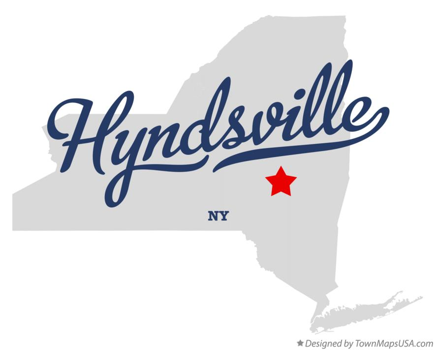 Map of Hyndsville New York NY