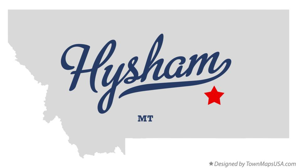 Map of Hysham Montana MT