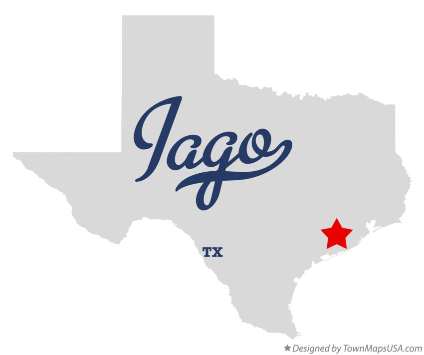 Map of Iago Texas TX