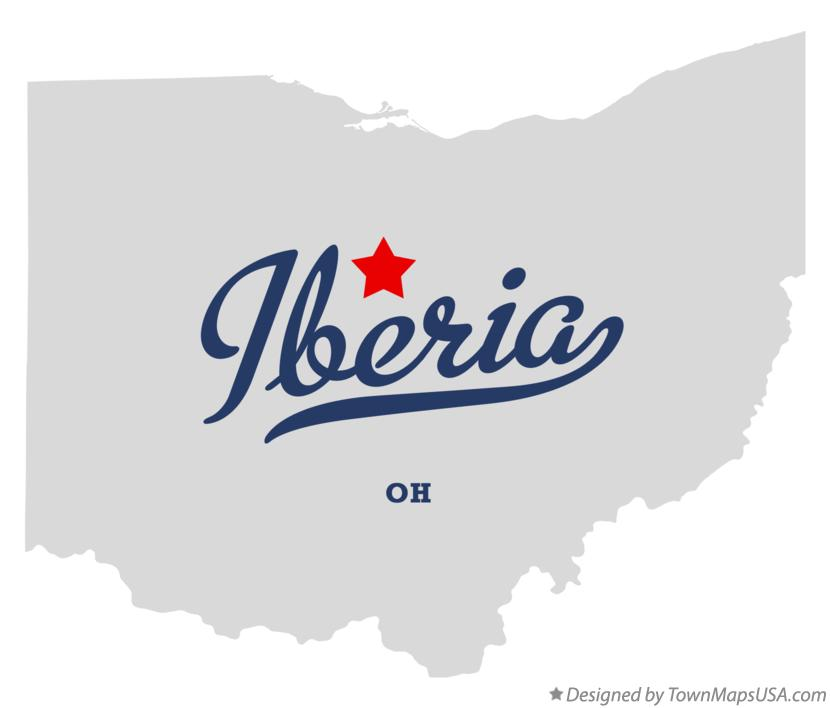 Map of Iberia Ohio OH