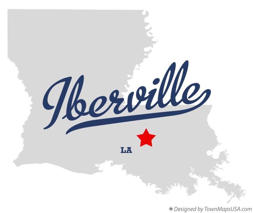 Map of Iberville Louisiana LA