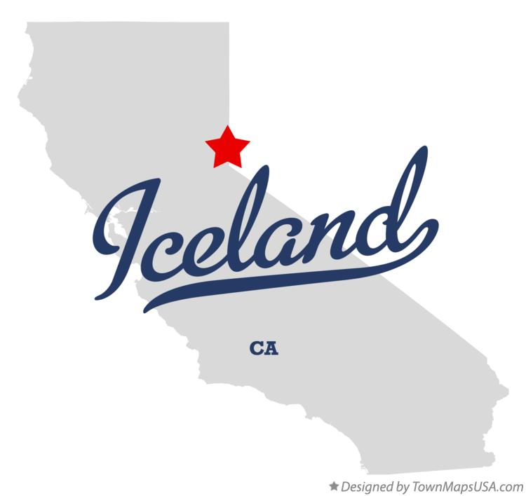 Map of Iceland California CA