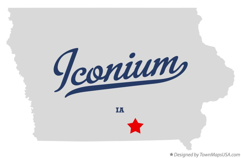 Map of Iconium Iowa IA
