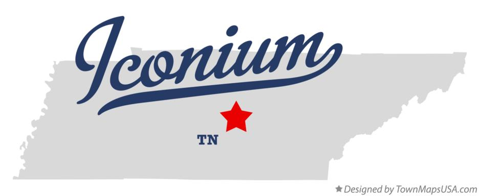 Map of Iconium Tennessee TN