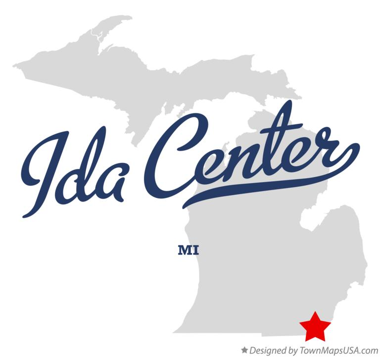 Map of Ida Center Michigan MI