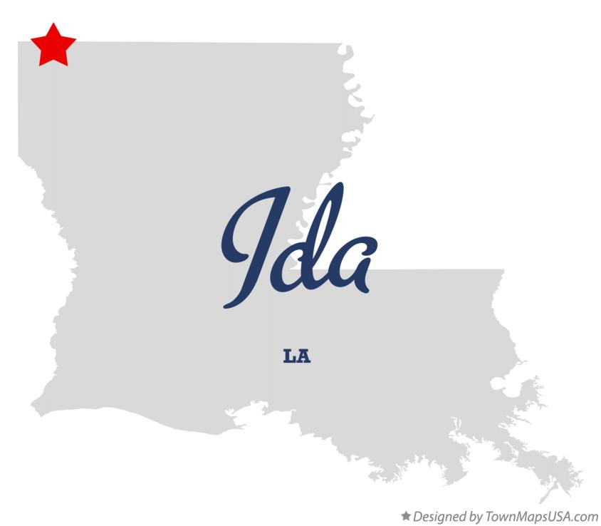 Map of Ida Louisiana LA