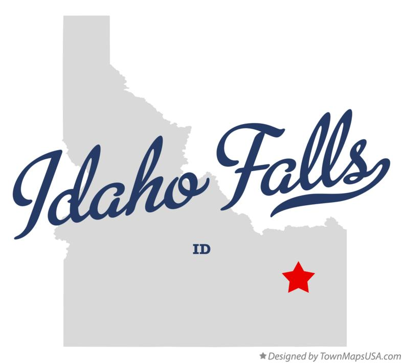 Map of Idaho Falls ID Idaho