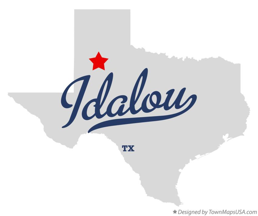 Map of Idalou Texas TX