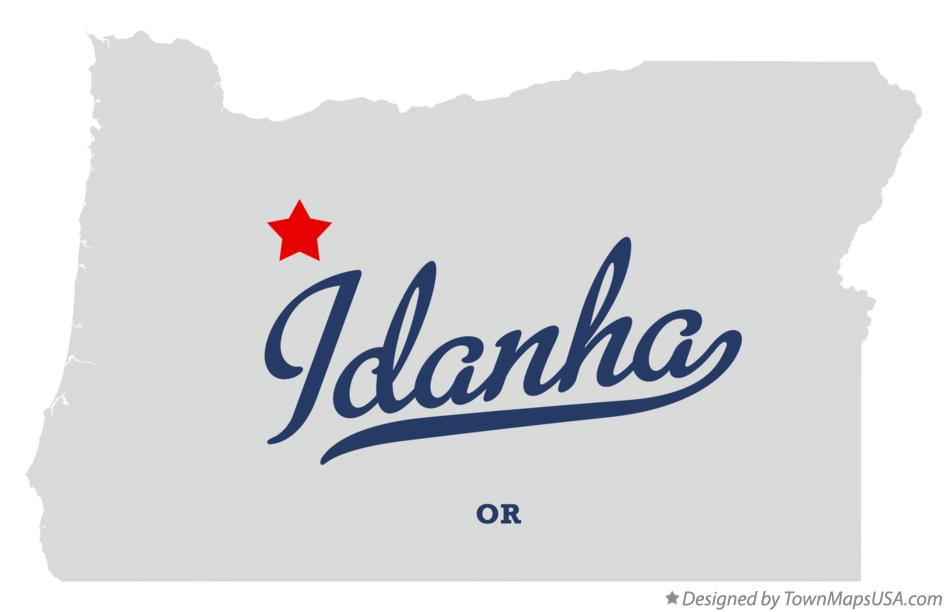 Map of Idanha Oregon OR