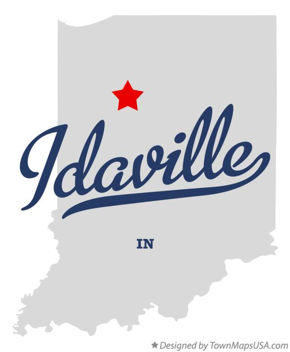 Map of Idaville Indiana IN
