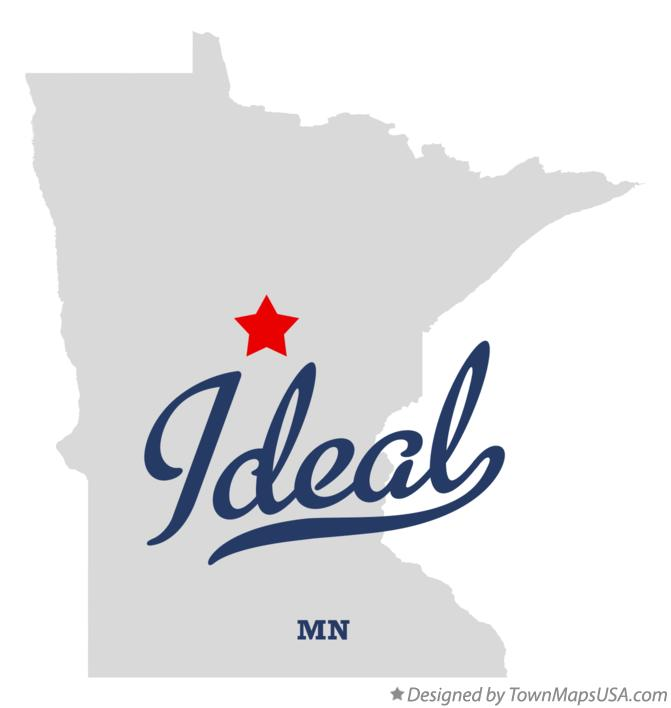 Map of Ideal Minnesota MN