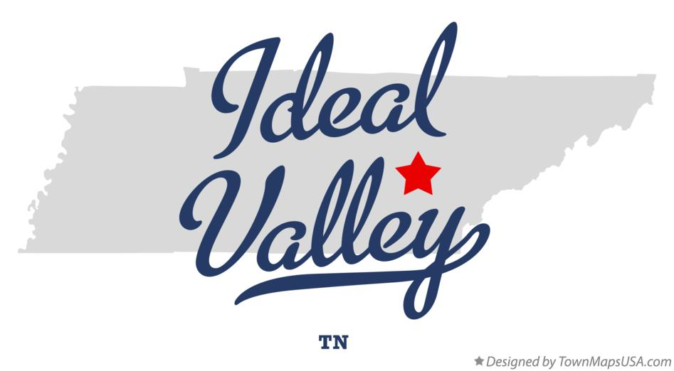 Map of Ideal Valley Tennessee TN
