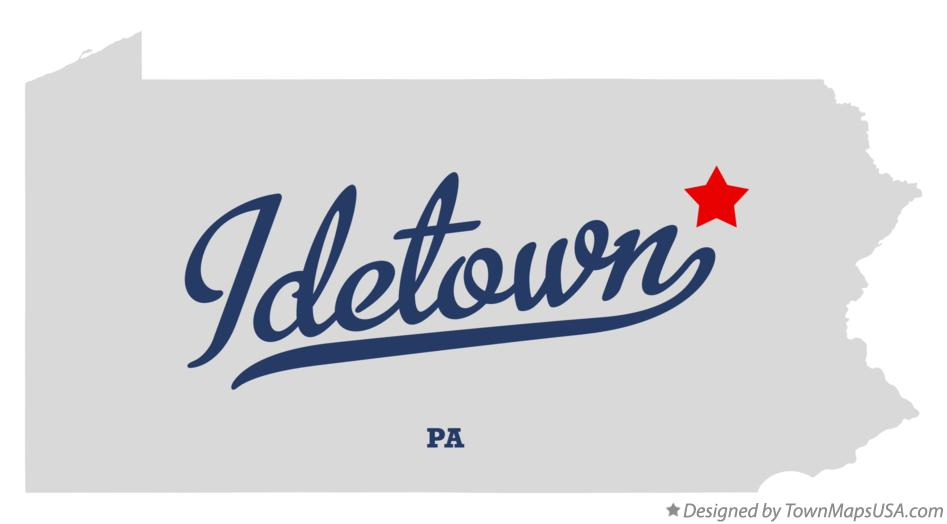 Map of Idetown Pennsylvania PA