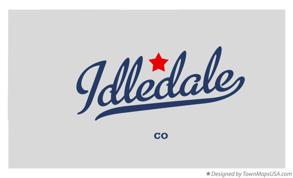 Map of Idledale Colorado CO
