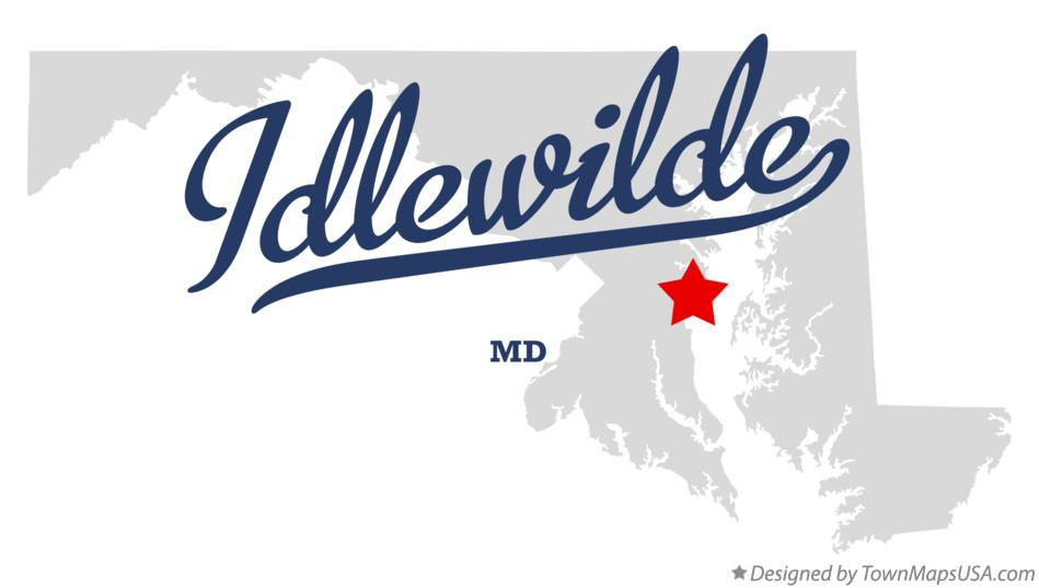 Map of Idlewilde Maryland MD