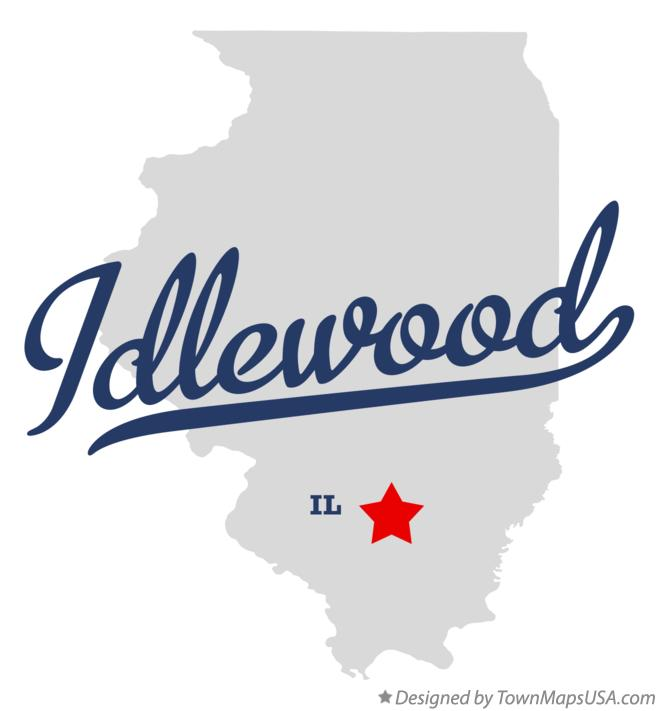 Map of Idlewood Illinois IL