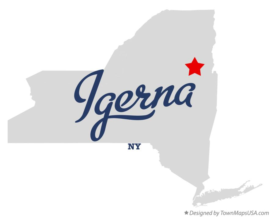 Map of Igerna New York NY