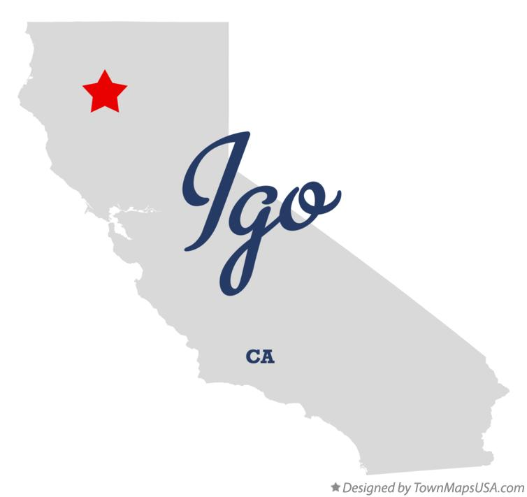 Map of Igo California CA