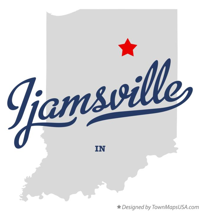 Map of Ijamsville Indiana IN