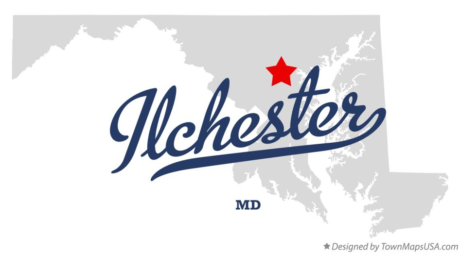 Map of Ilchester Maryland MD