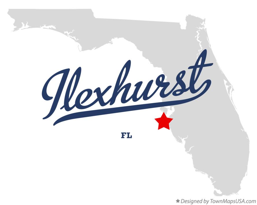 Map of Ilexhurst Florida FL