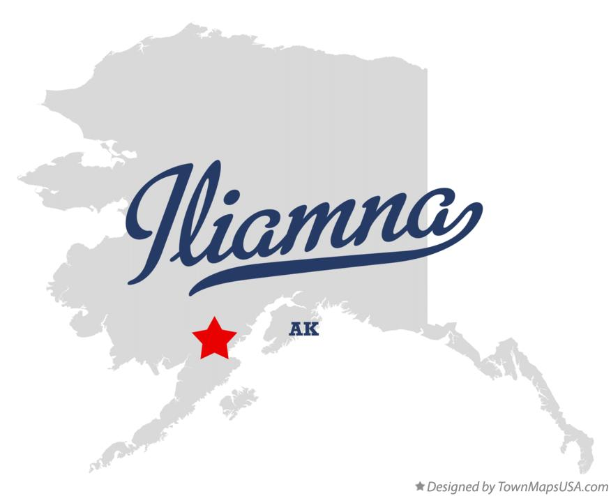 Map of Iliamna AK Alaska
