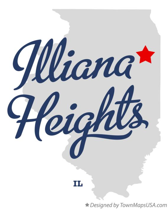 Map of Illiana Heights Illinois IL
