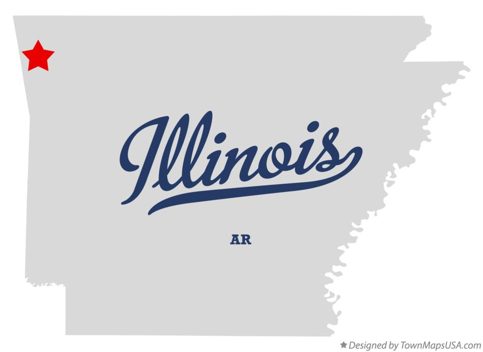 Map of Illinois Arkansas AR