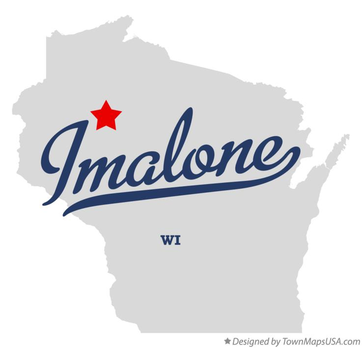 Map of Imalone Wisconsin WI